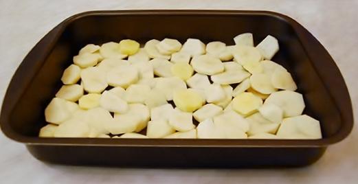 Картофель запечённый с грибами
