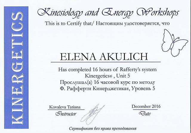 сертификат по кинерджетике