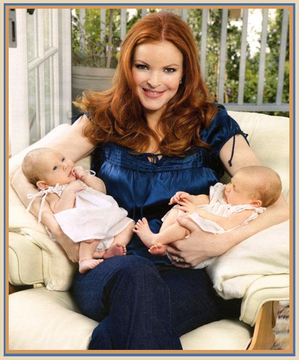 Марсия Кросс родила близняшек в 45 лет