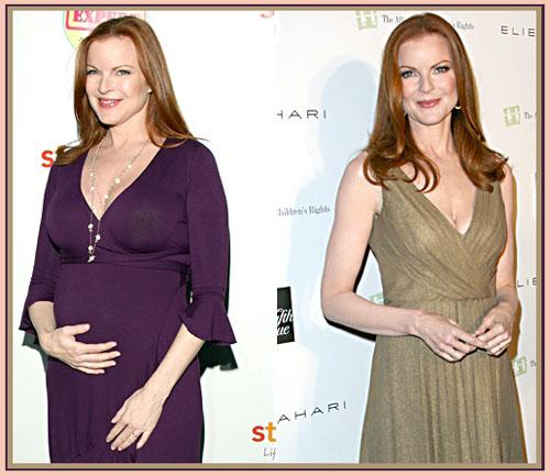 Марсия Кросс во время беременности