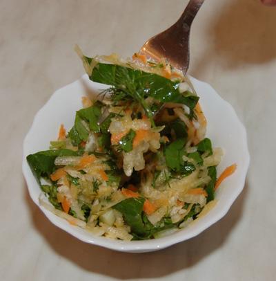 Салат витаминный. Рецепт